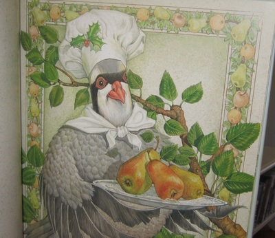 Book Illustration Partridge in a Pear Tree