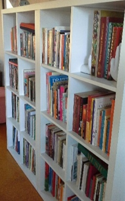 Bookcase Filled with Books