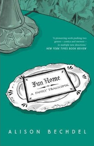fun home, alison bechdel, memoir, graphic novel, banned book, banned comic