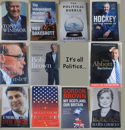 Just some of the latest political titles available