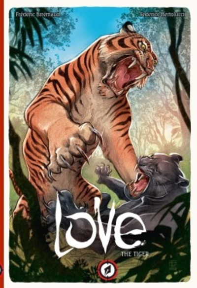 Love Volume One: The Tiger, Love, graphic novels about animals, books about animals comic nature documentary