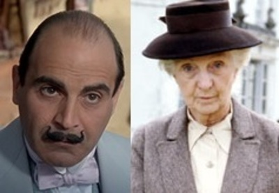 marple and poirot, Agatha Christie, Miss Marple, Hercule Poirot, David Suchet, Joan Dickson