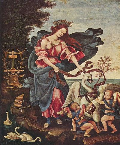 muse, allegory of music, Filippino Lippi