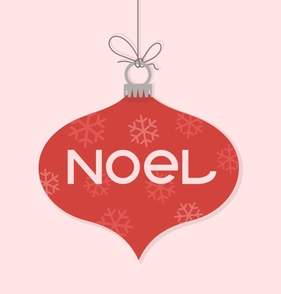 Ornament with Word Noel