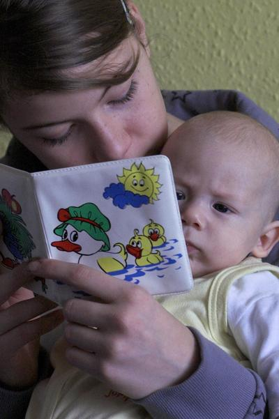 Reading Book to Baby