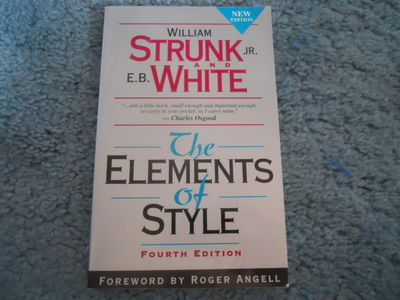 OF WHITE STRUNK AND ELEMENTS STYLE